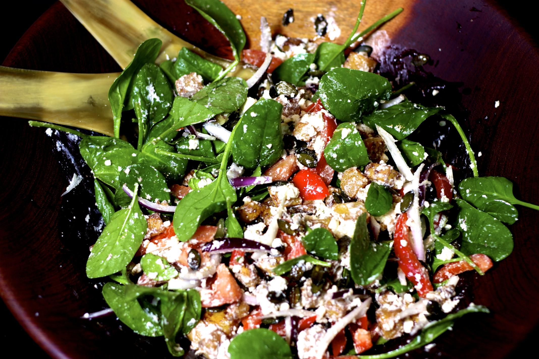 Kürbis-Feta-Salat