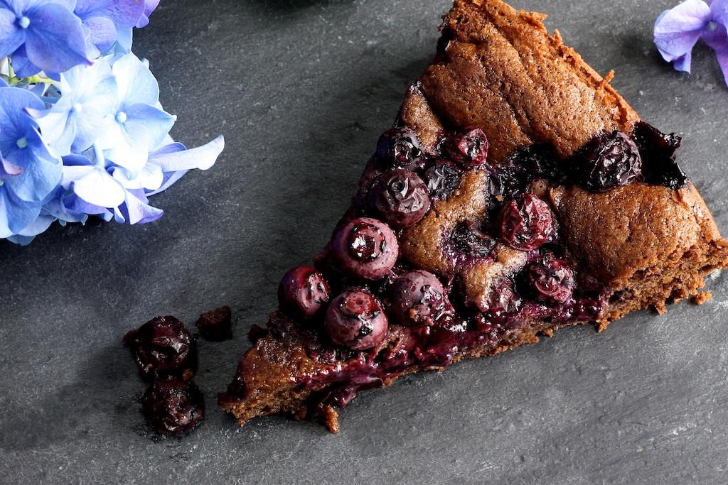 Schokoladen-Heidelbeer-Kuchen
