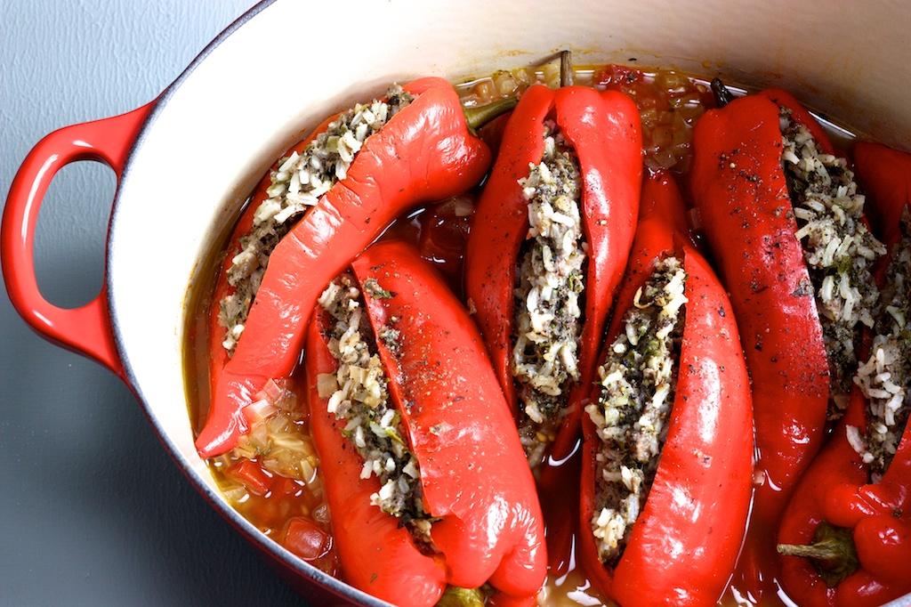 Gefüllte Spitzpaprika mit Baharat