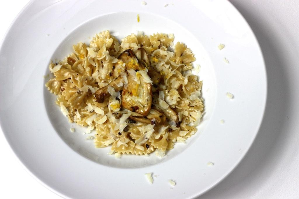 Pasta mt Pilz-Zitronen-Sahne-Sauce