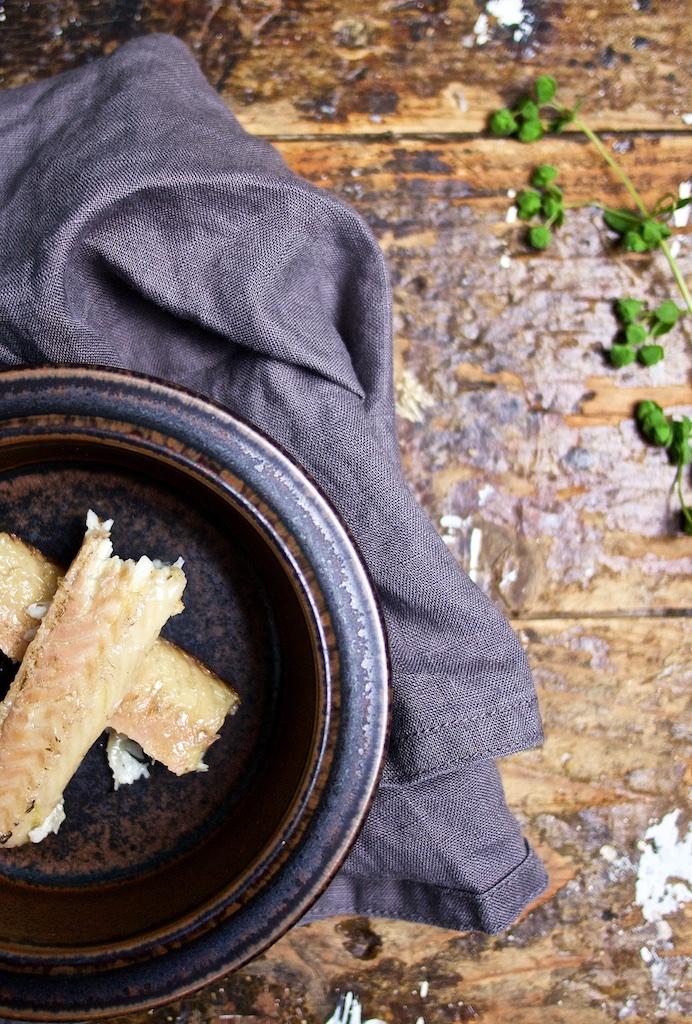 Kartoffel-Apfel-Supper mit Raeucheraal