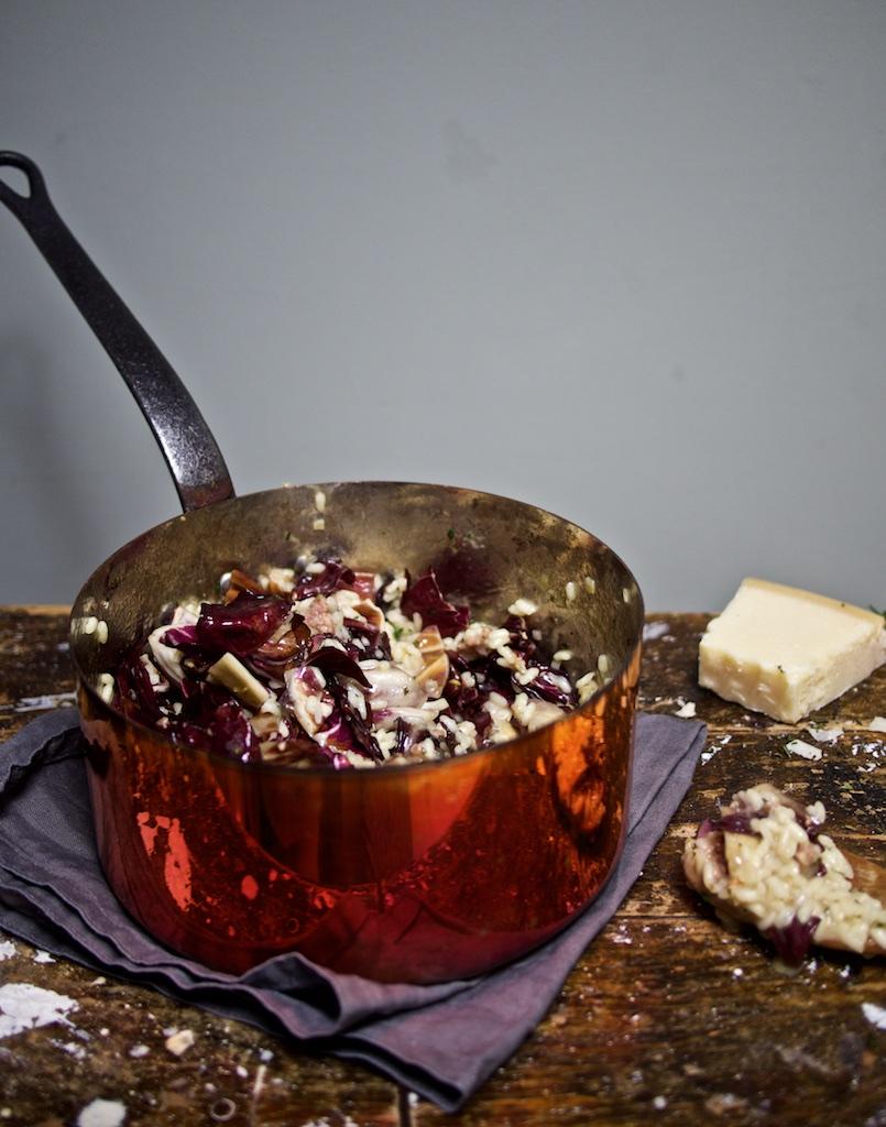 Risotto mit Salsiccia und Radicchio