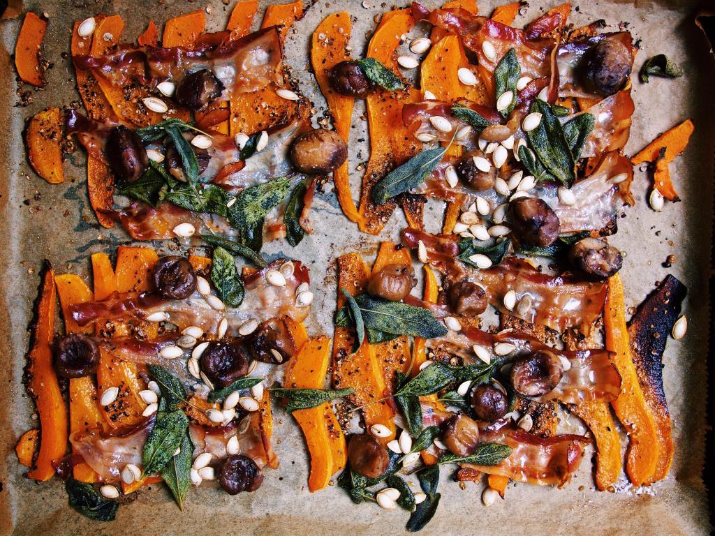 Kürbisrisotto mit Speck, Maronen und Salbei nach Jamie Oliver