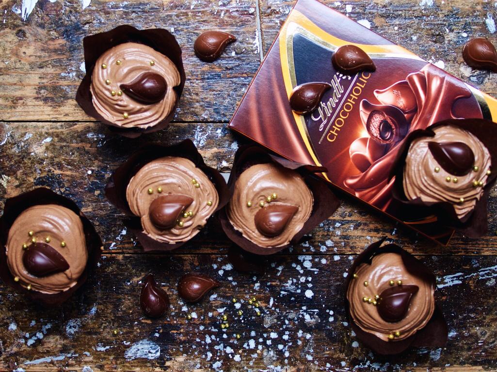 Schokoladen-Mousse-Cupcakes