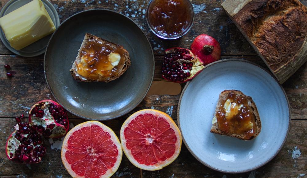 Grapefruit-Granatapfel-Marmelade
