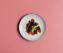 Fagottini mit Garnelenfüllung auf confierten Vanille-Kirschtomaten
