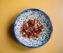 Bohnesalat mit Tomaten und Chorizo